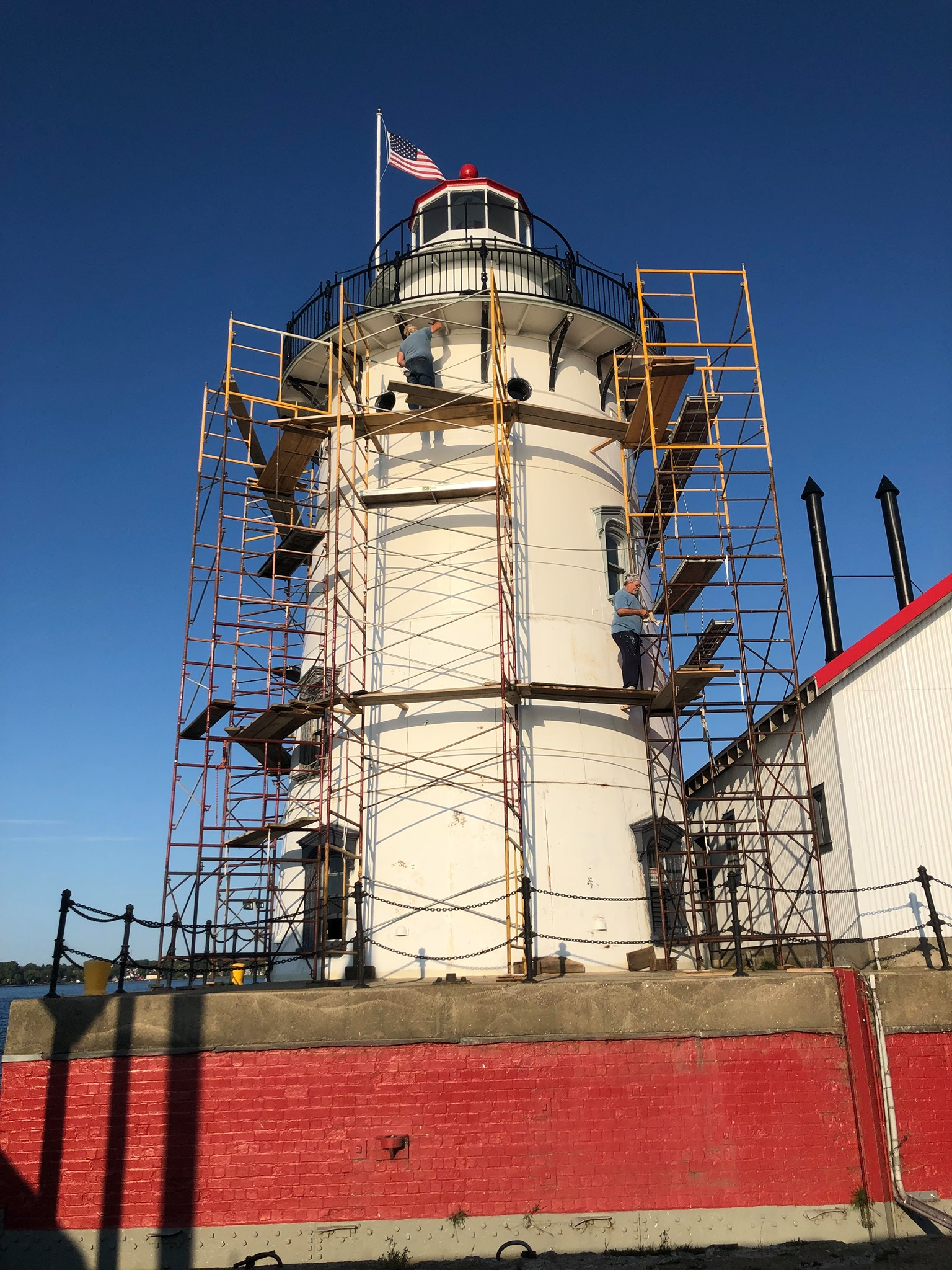 Harbor Beach Lighthouse Restoration 2019-