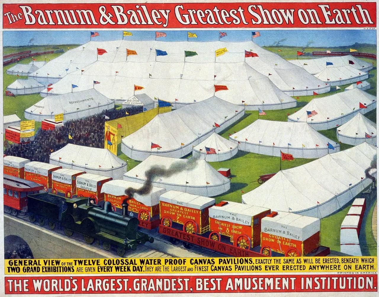 Barnum & Bailey Greatest Show Poster