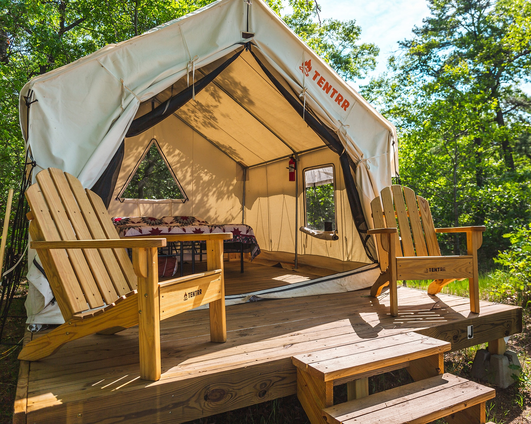 Glamping at Sleeper State Park