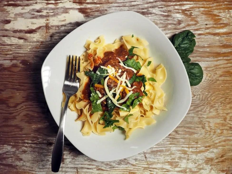 Spinach Pasta - best beef jerky recipe