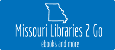 Missouri Libraries 2 Go logo in blue.