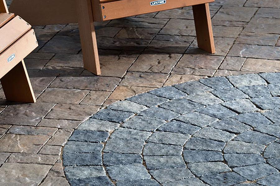 Textured Concrete Patio