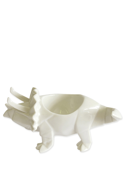 House of Disaster White Triceratops Dinosaur Egg Cup
