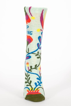 Blue Q - Stop Talking Crew Socks