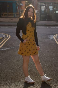 Run & Fly - Gold Bee Pinafore
