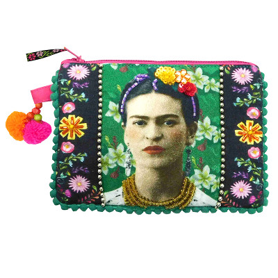 House of Disaster - Frida Kahlo Photo Zip Purse
