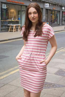 Vero Moda - Pink Stripe T-shirt Dress