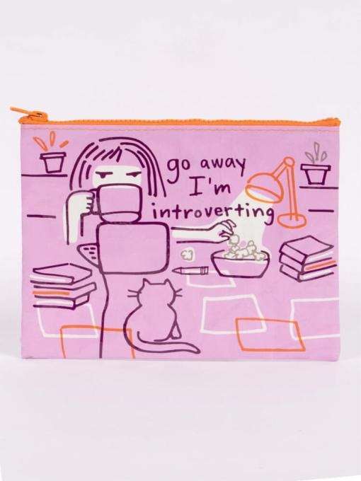 Blue Q - Go Away I'm Introverting Zipper Pouch