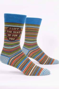 Blue Q - I Left The Seat Up For You Men's Crew Socks