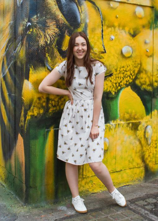 Run & Fly - Cream Bee Dress