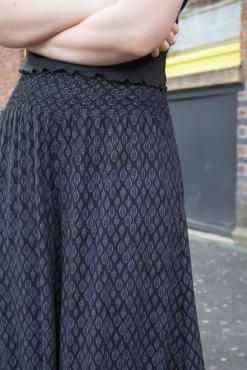 Thunder Egg - Black Leaf Palazzo Pants