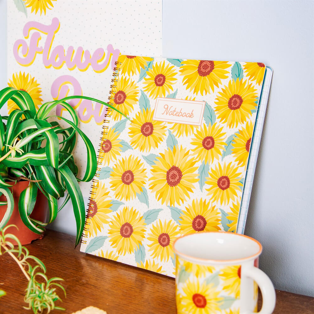 Sass & Belle - Sunflower A4 Lined Notebook