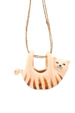 Sass & Belle - Tabby Cat Hanging Planter