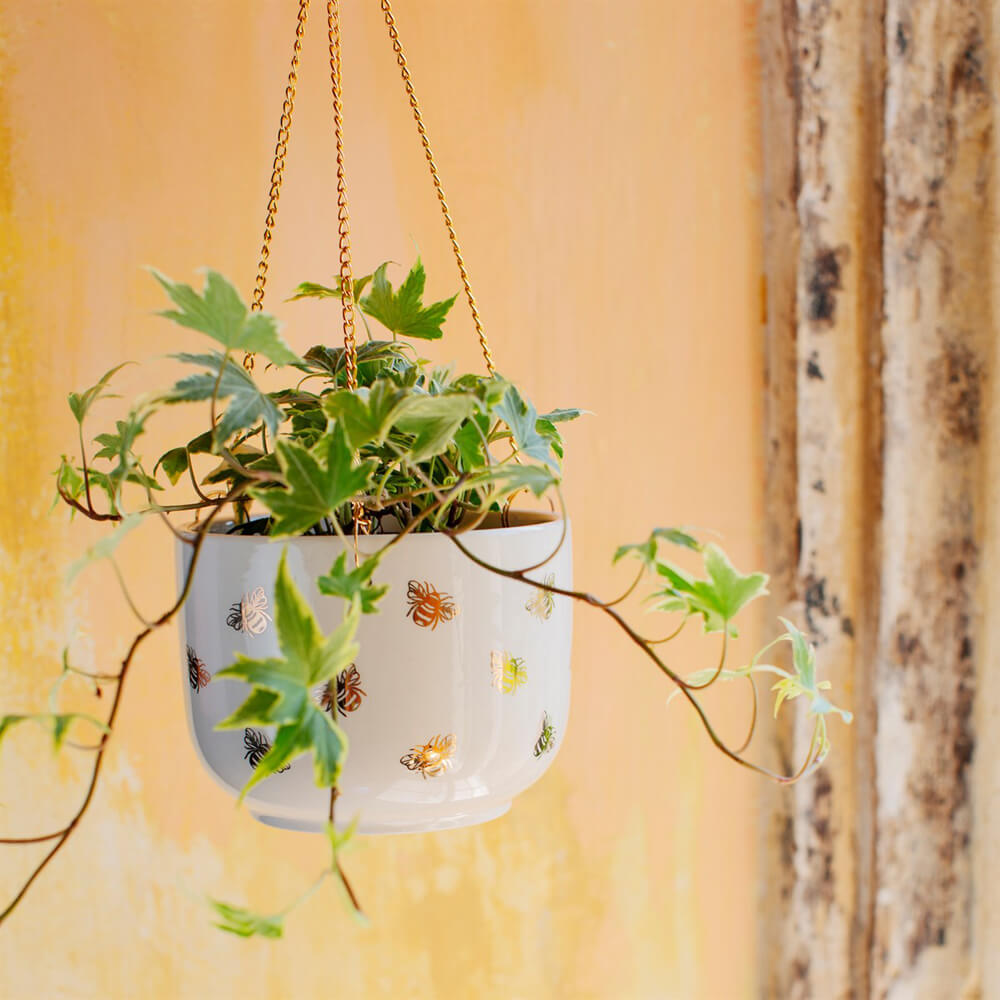 Sass & Belle - Gold Bee Hanging Planter