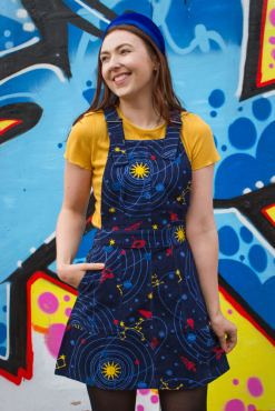Run & Fly - Corduroy Solar System Pinafore