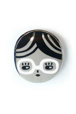 Badge Bomb - Glasses Chick Enamel Pin