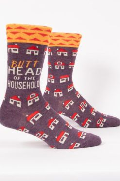 Blue Q - Butthead of the Household Men's Crew Socks