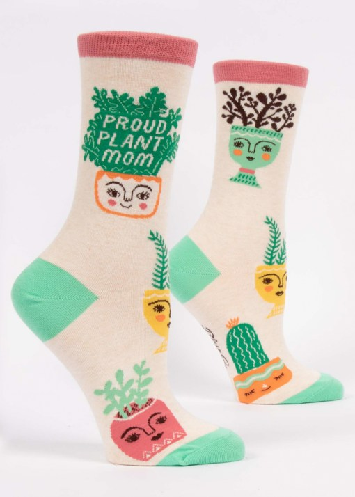 Blue Q - Proud Plant Mom Socks