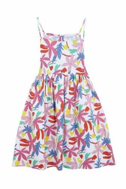 Compañia Fantastica - Abstract Floral Strappy Smock Dress