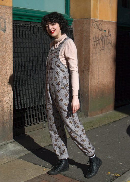 Run & Fly - Unisex Twill Oversized Sloth Dungarees