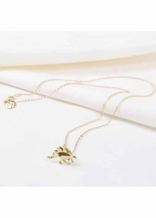 Lisa Angel - Gold Stegosaurus Necklace