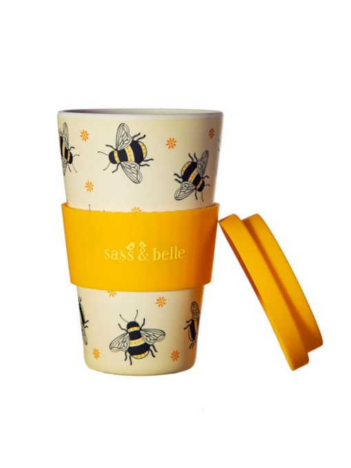 Sass & Belle - Busy Bees Bamboo Travel Cup