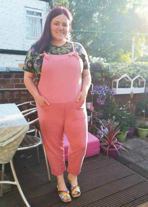 Thunder Egg - Candy Pink Jersey Dungarees