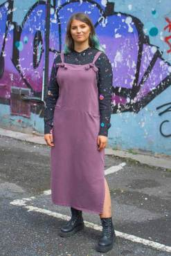 Thunder Egg - Purple Jersey 90s Pinafore Dress
