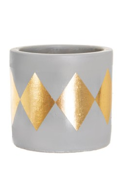 Sass & Belle - Mini Dina Gold Diamond Planter