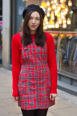 Run & Fly - Twill Red Tartan Pinafore
