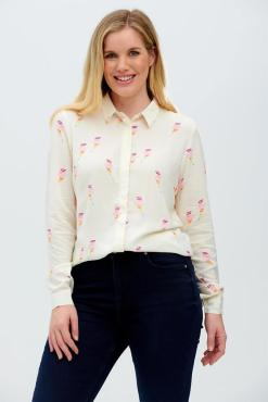 Sugarhill Brighton - Catrina Cream Rainbow Lightning Shirt
