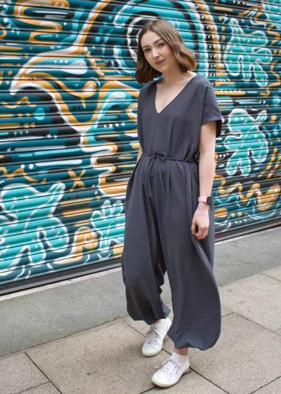 Thunder Egg - Charcoal Grey Slouch Jumpsuit