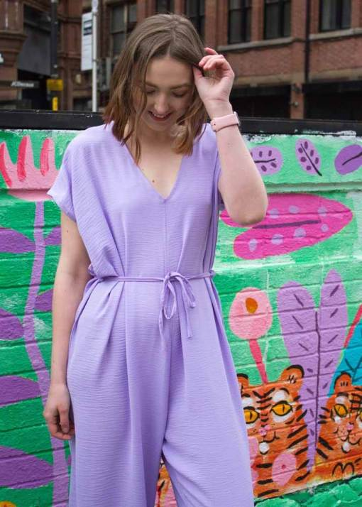 Thunder Egg - Pastel Lilac Slouch Jumpsuit