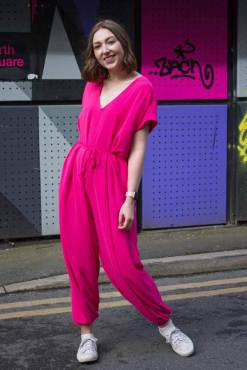 Thunder Egg - Bright Fuchsia Slouch Jumpsuit