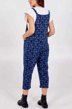 Thunder Egg - Navy Star Jersey Dungarees