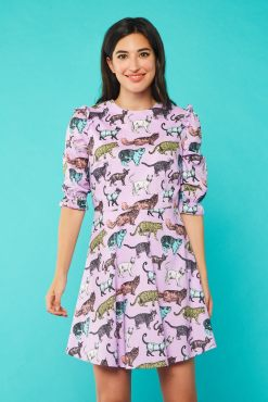 Minueto - Lilac Cat Dress