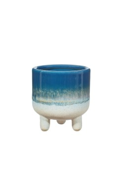 Sass & Belle - Mojave Glaze Blue Mini Planter