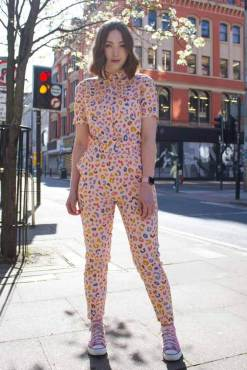 Sugarhill Brighton - Pink Leopard Print Zeta Boilersuit