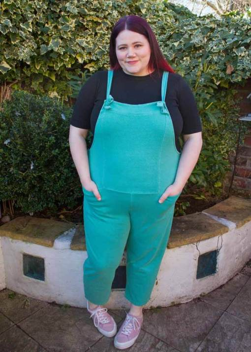 Thunder Egg - Teal Jersey Dungarees