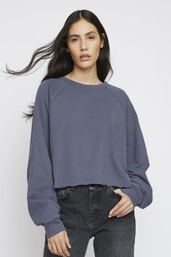 Glamorous - Dark Blue Long Sleeved Slouch Top