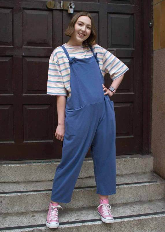 Thunder Egg - Air Force Blue Jersey Dungarees