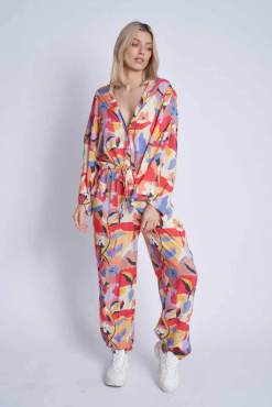 Thunder Egg - Mimosa Print Loose Fit Jumpsuit