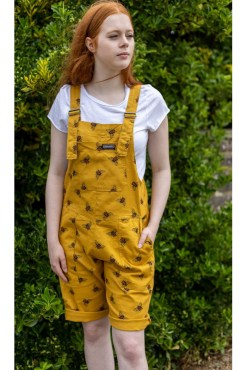 Run & Fly - Stretch Twill Bee Dungaree Shorts