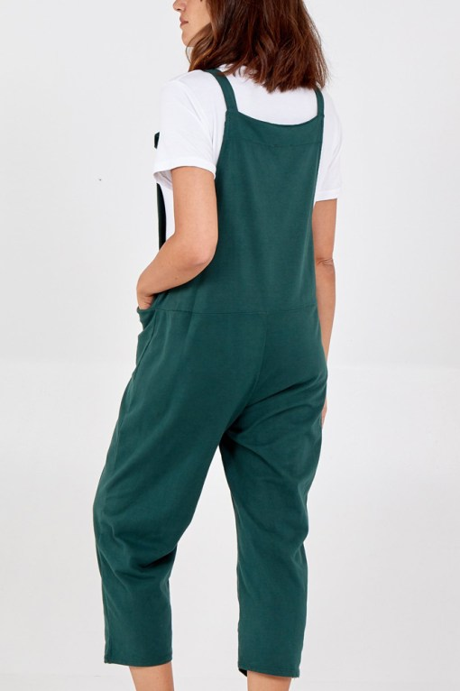 Thunder Egg - Forest Green Jersey Dungarees