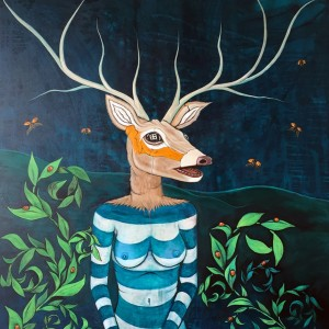 """Deer Woman Gets A Manicure"":Sold"