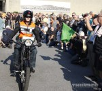 #60 Hans Coertse heads out from the Motorcyclepedia Museum