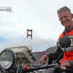 Hans Coertse of South Africa enjoying the Golden State