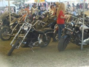 Judges make their rounds searching for the best of the bike show entries