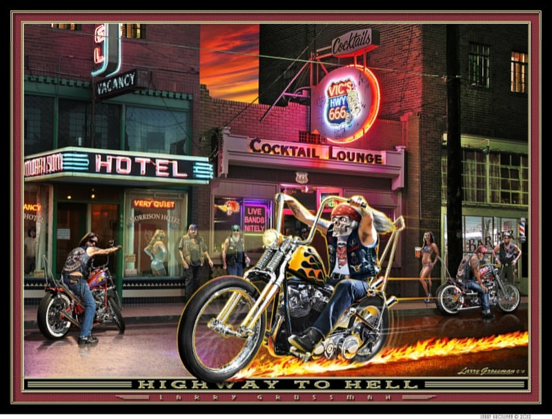 Larry Grossman' Highway to Hell art print