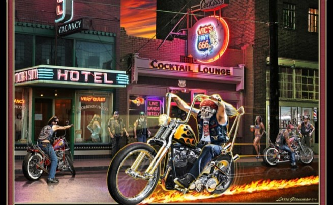 Larry Grossman' Highway to Hell art print